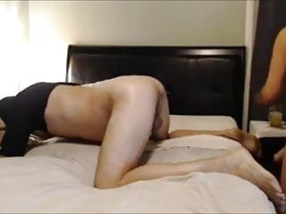 Femdom wife mistress pegging husband with strapon