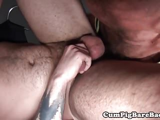 Preview 4 of Silver wolf drills muscular studs ass