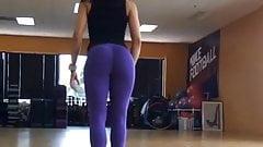 hot indian slut in purple leggings