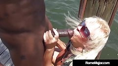 BBC Rome Major Fucks Granny Mandie McGraw On The Dock!'s Thumb