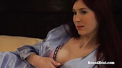 Disappeared On Arrival:Busty Mistress Feeds Submissive Slave's Thumb