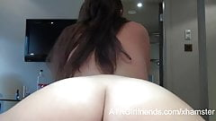A London Vacation w Ashley Stone ends with a hairy creampie