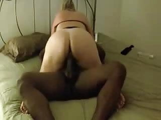 Fat Ass Amateur Riding A Black Dick - Derty24