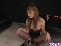 Sena Aragaki has fishnets cut to get sex toys in ass and