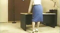 Office strip porn