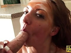 British bdsm sub pussypounded after fingering
