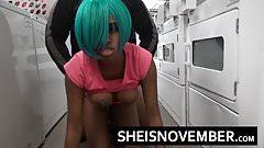 Young Ebony Teen Msnovember Big Ass Anal N Public Laundromat