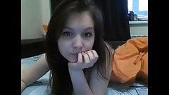 Cute teen brunette