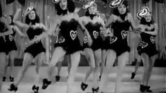 Burlesque Girls Dance on Stage (1940s Vintage)