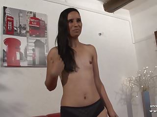 Preview 2 of Casting of a pretty small titted amateur french brunette