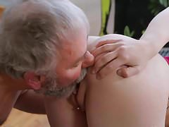 Tiny Tit Teen Please Old Man!