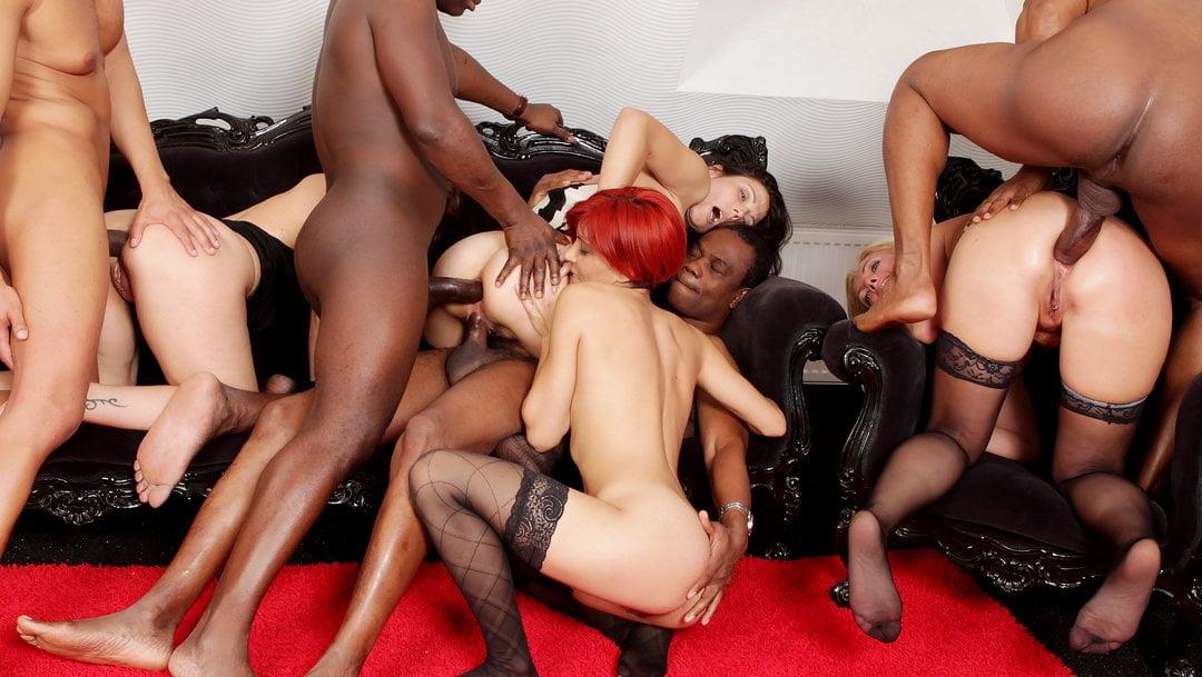 Mature Black Orgy