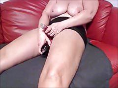 Busty Milf hard and fast Masturbation on Cam
