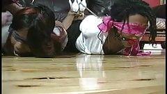 Black Girls in Hard Hogtie