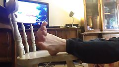 Feet up relaxing