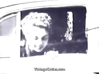 Preview 1 of Car Driver gets a Sexual Pleasure (1940s Vintage)