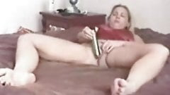 Blonde MILF Self Taped Masturbation and Orgasm