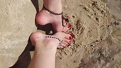 High arch beach feet