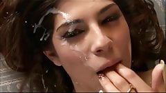 Cute Girl Get Massive Spraying Facial