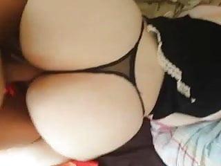 Nice round white asses - Her nice round ass
