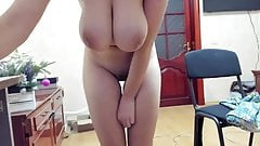 mega busty skinny cam girl naked in cam for our pleasure's Thumb