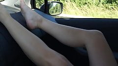Dutch Milf Flashing trough Auvergne, France