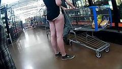 Booty cheeks peeking out of shorts