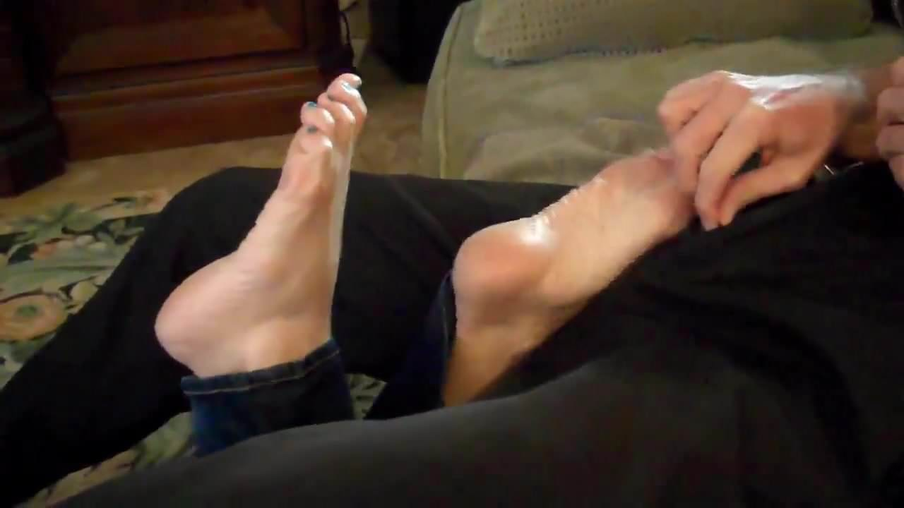 Mom gives footjob