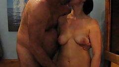 real female orgasm in the sauna