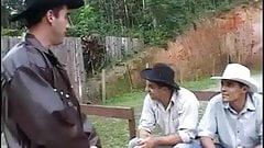 Cowboys Watching Hot Couple fucking in Farm