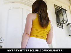 MyBabysittersClub - Sexy Teen Babysitter Fucks Hot Boss
