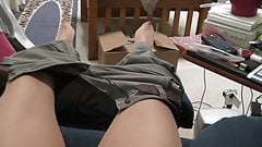 Pants on, pants off, pantyhosed cum video, again...