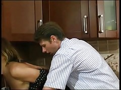Russian mature Christie fucked in kitchen