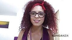 Tu Venganza - Curly redheaded latina sucking a hard rod