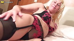 Dirty grandma and her old pussy
