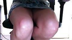 Upskirt under desk Full