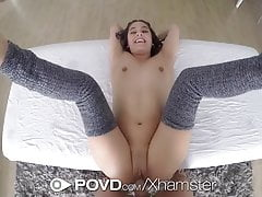 POVD - Flexible Lucy Doll is oiled up and fucked in pov