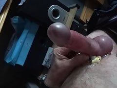 Cam wank with ring on slow motion