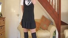 Wank for British Schoolgirl