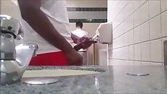Str8 bbc play in public toilet