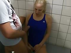 Lycra Swimsuit Locker Room Fuck