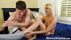 Maxim Loves gives her man a titfuck after he bangs her ass