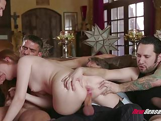 Hotwife Maya Kendrich Gangbang While Hubby Watches