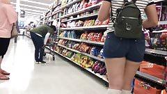 Booty jean shorts teen