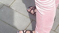 Nice blue teen feet