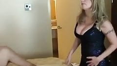 Mistress Amy - HUBBY SUCKS COCK FOR WIFE