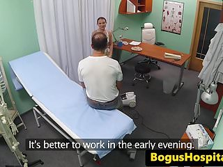 Amateur Euro Banged From Behind By Doctor