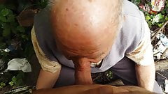 Very old man Sucking Cock