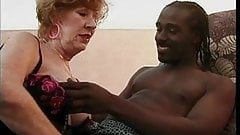Mature Granny Sucks and Fucks a BBC
