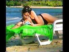 Melanie Sykes Black Bikini